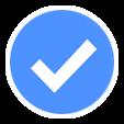blue check emoji